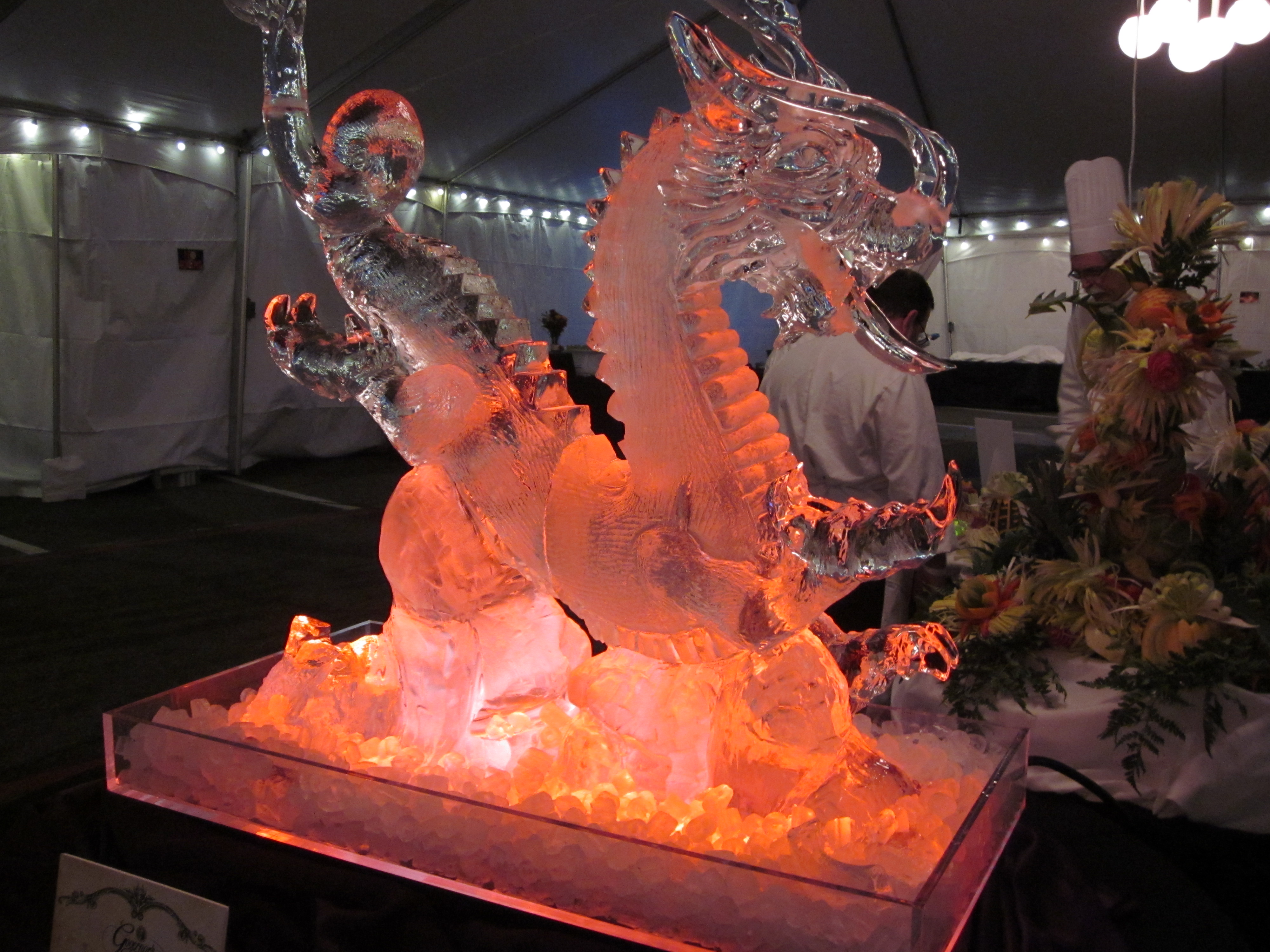 the year of the dragon ice sculpture